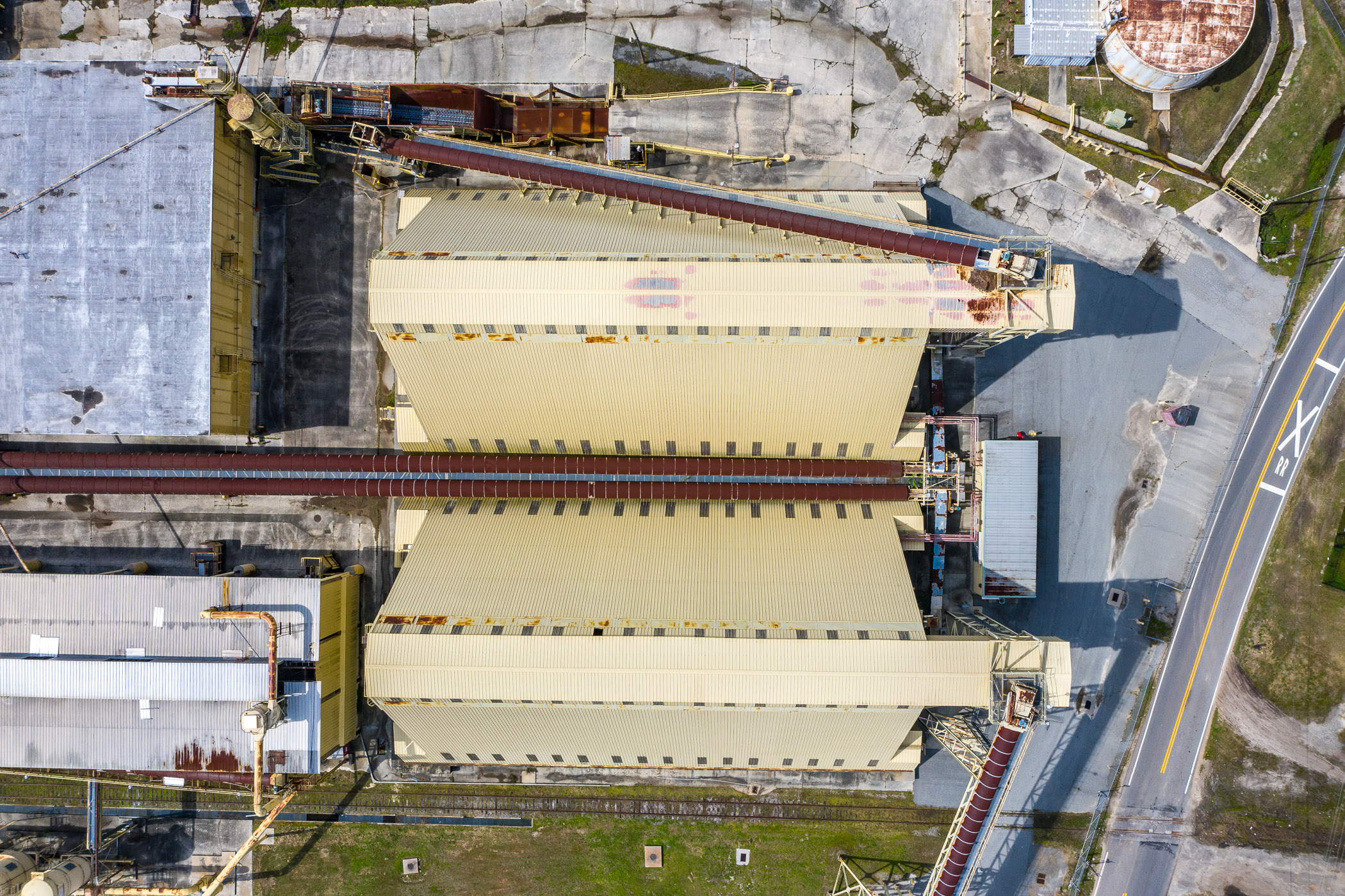 Birds-Eye view of Recycling Plant