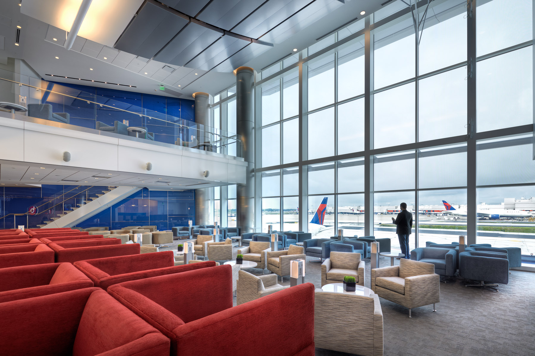 Photography of Delta SkyClub in Atlanta - Gregory Campbell