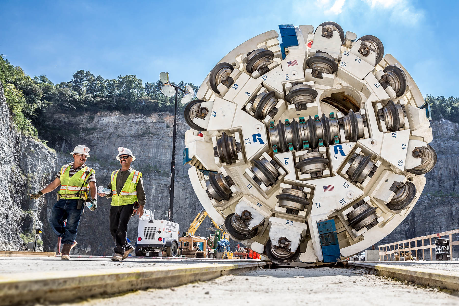 Tunnel boring machine in Atlanta by photographer Gregoy Campbell