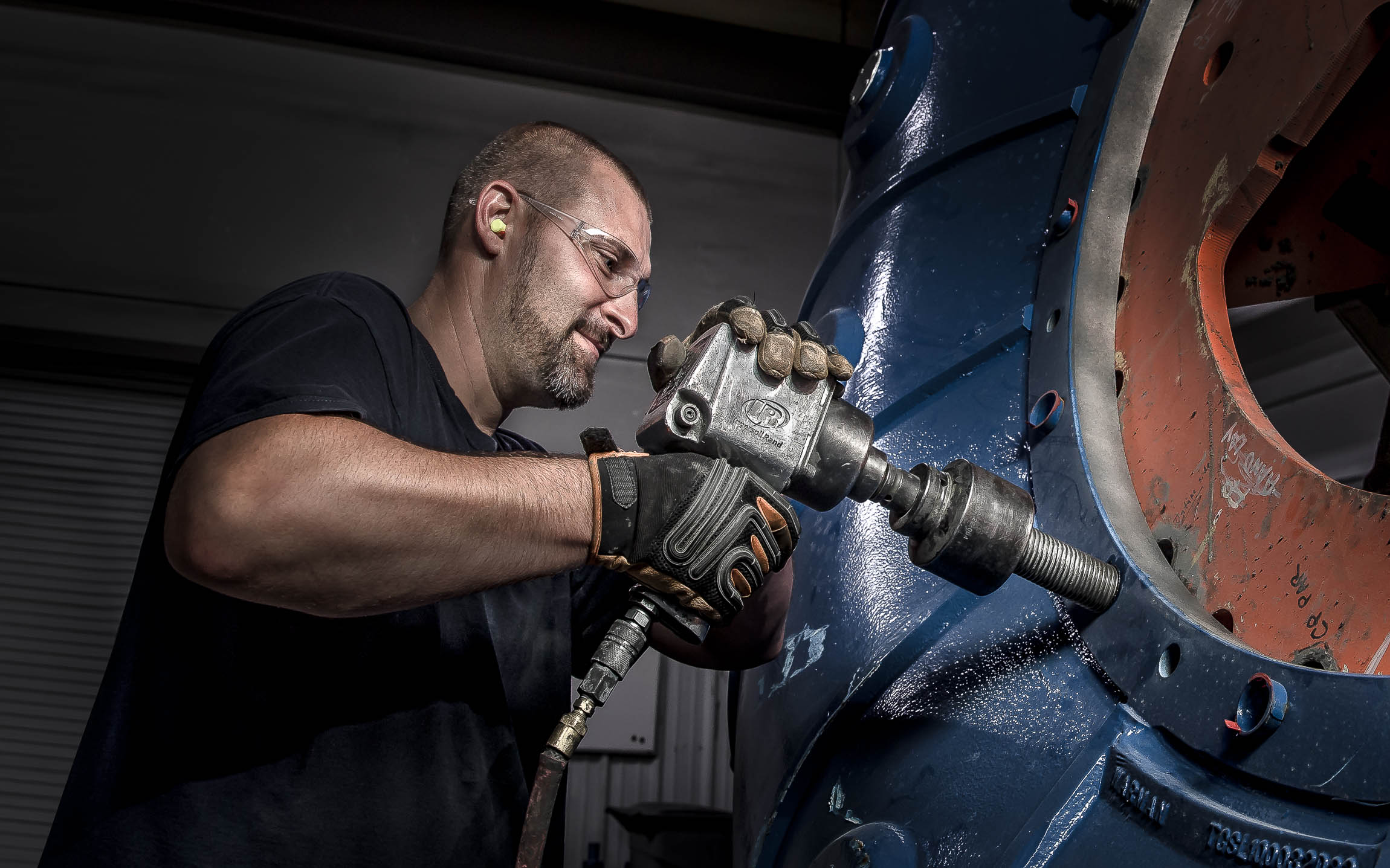 Manufacturing technician captured by industrial photographer
