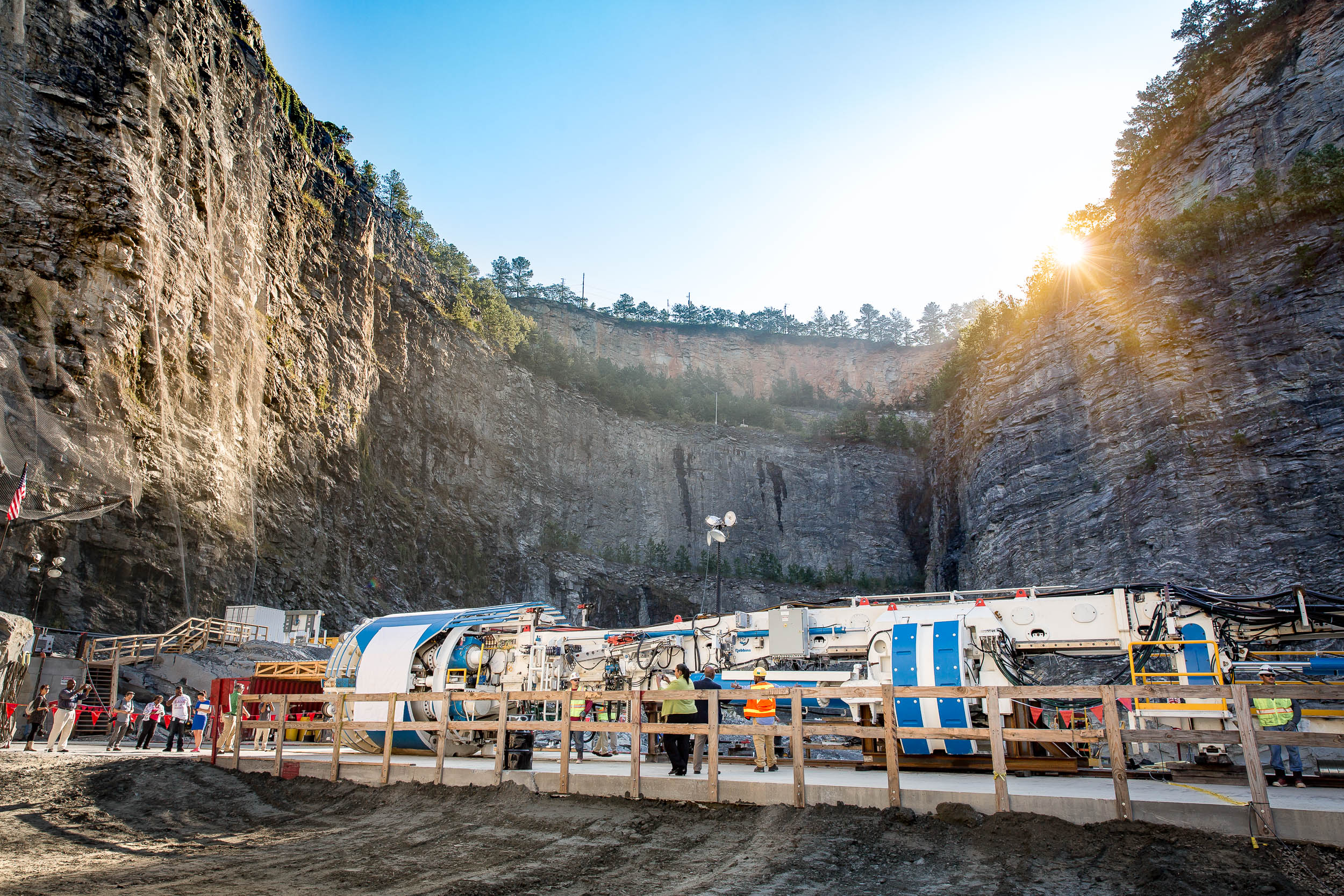 Atlanta photographer captures tunneling machine in quarry