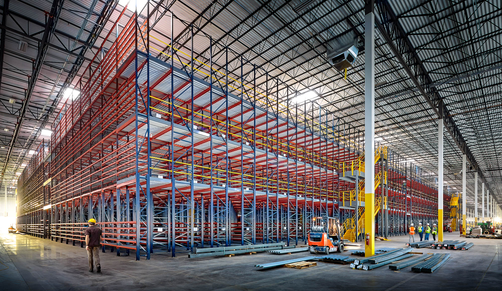 Huge Atlanta warehouse photographed by industrial photographer