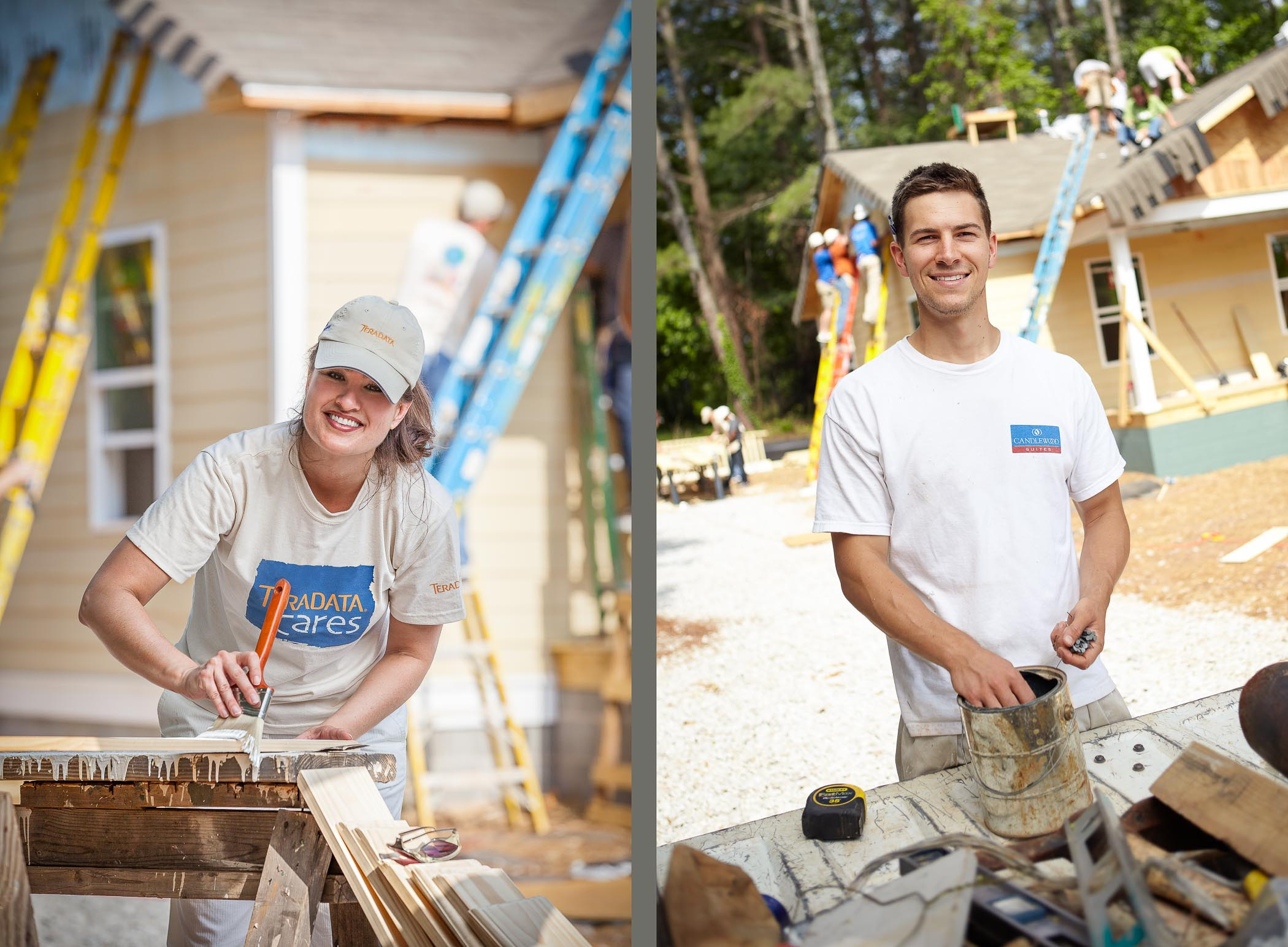 Building home in Atlanta for Habitat for Humanity