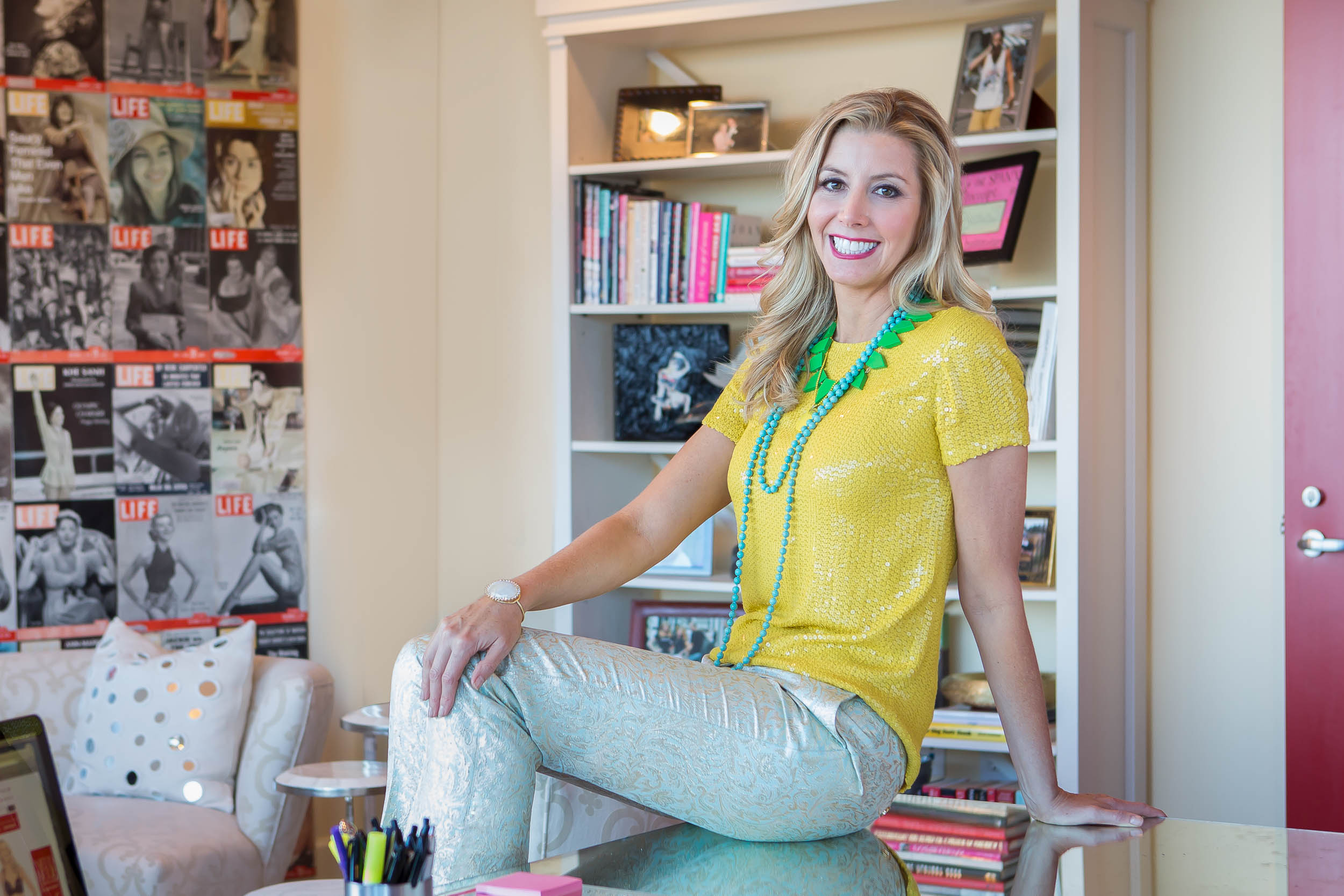 Portrait of Sara Blakely by Atlanta based photographer Gregory Campbell