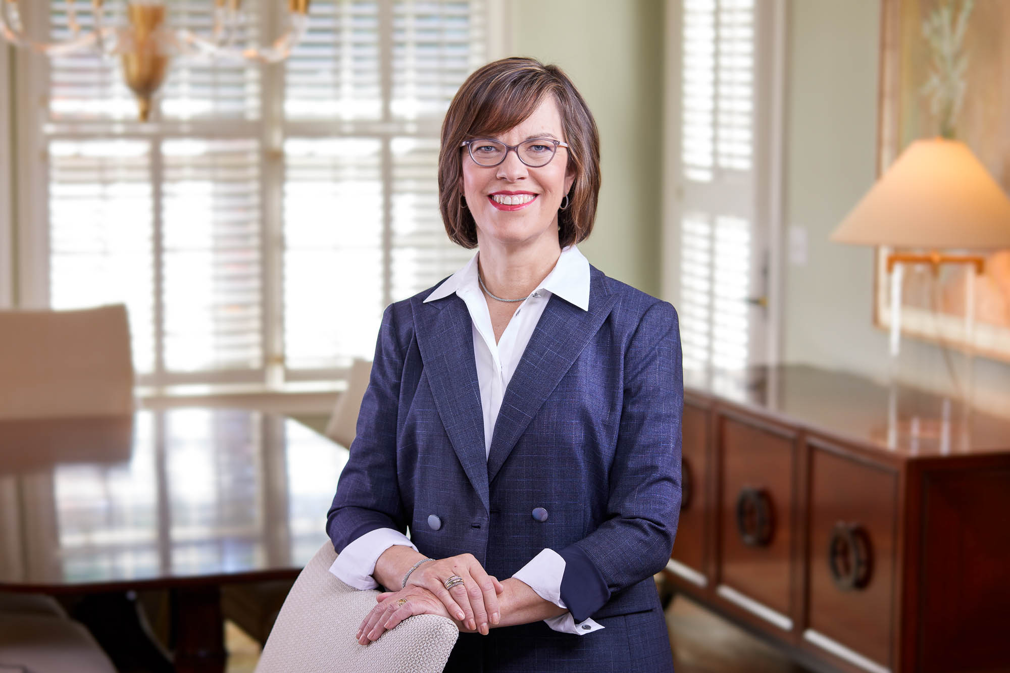 Cheryl Bachelder photographed in her home by Atlanta Photographer
