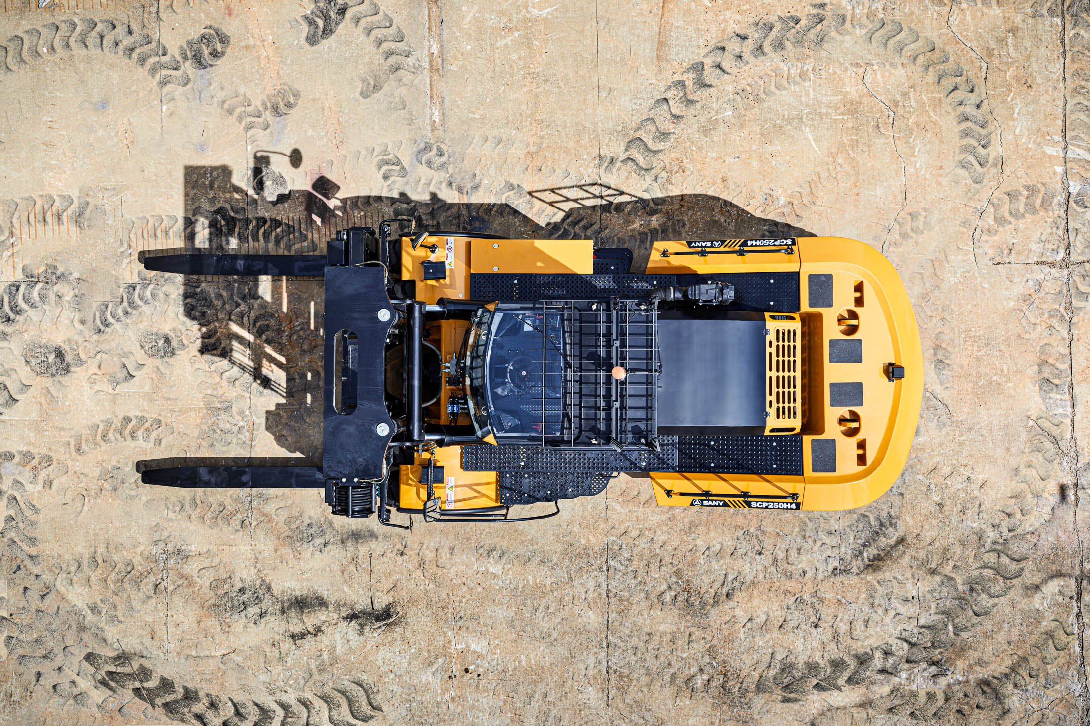 Drone view of Forklift