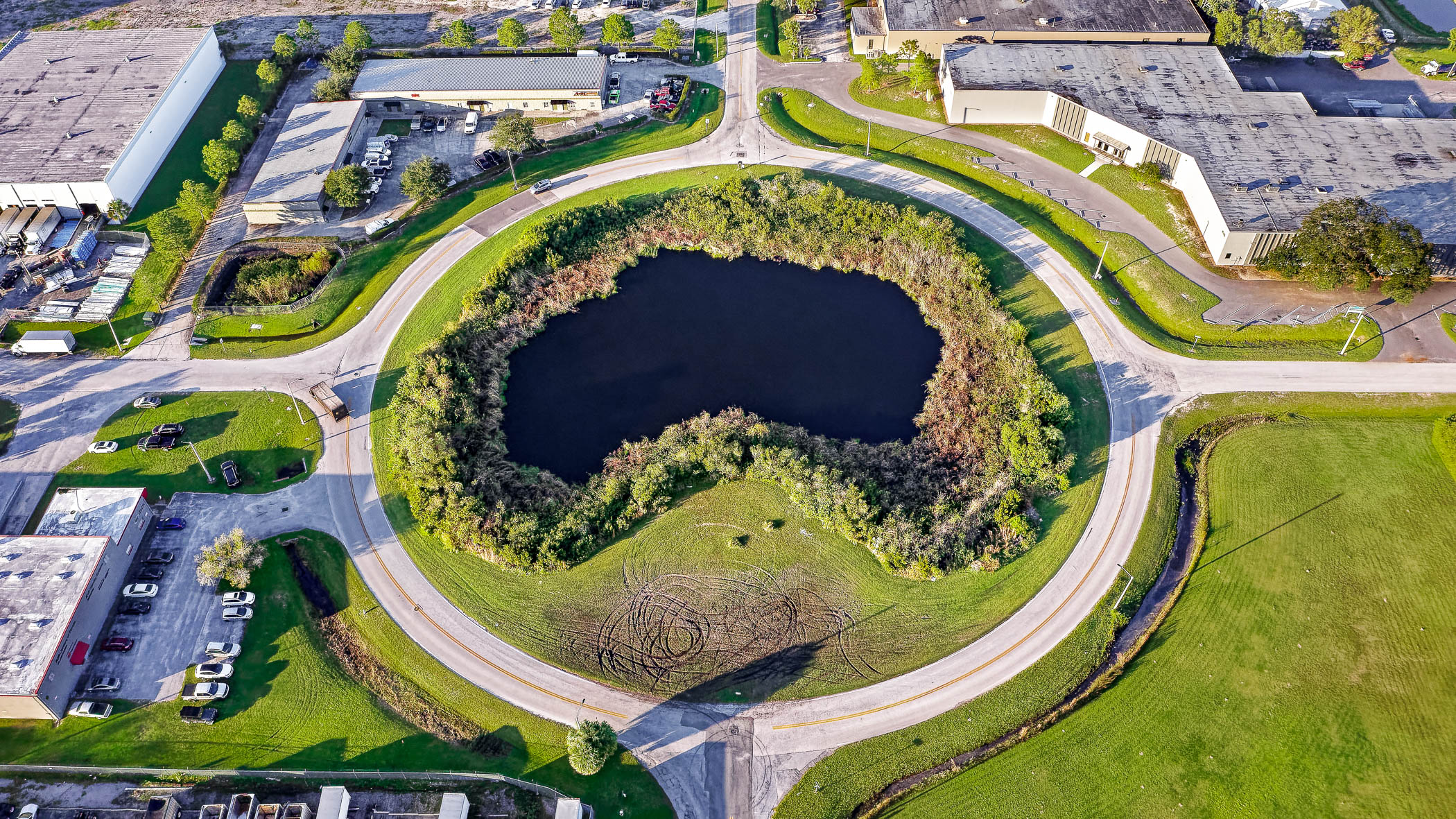 Tampa Traffic Circle by Drone Photographer in Atlanta
