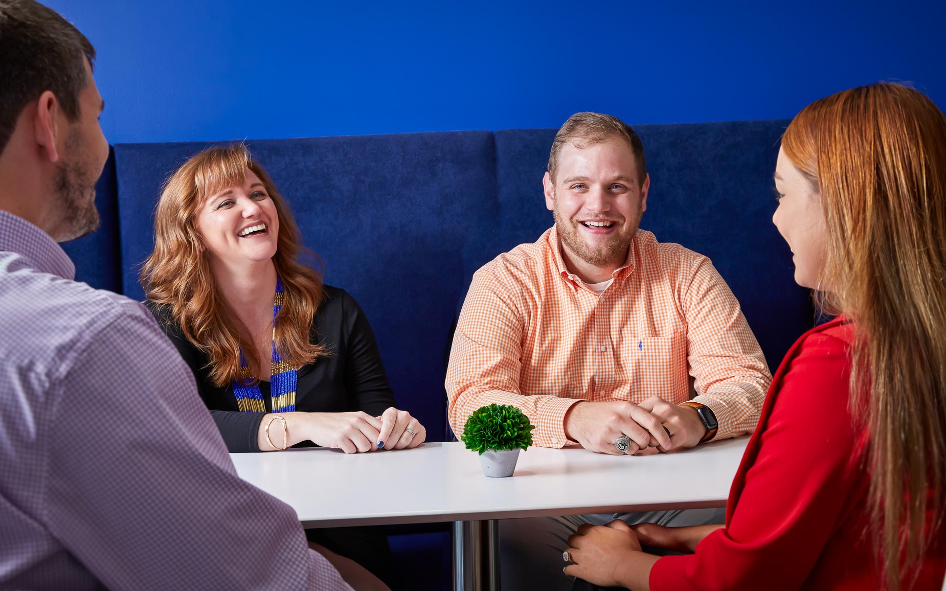 Atlanta Colleagues Share Laughs in Corporate Cafe